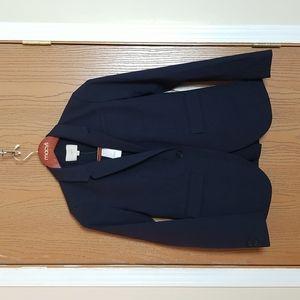 NWT Ann Taylor Loft Navy Blue Single Breasted Blazer Suit Jacket Size 0